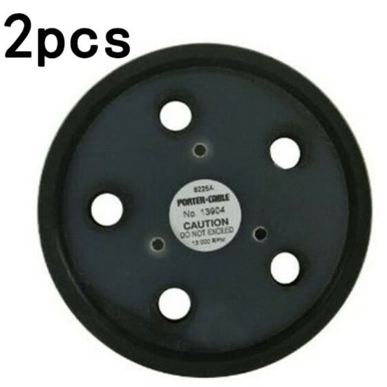 2Pcs 5Inch 5Holes Sanding Pad Sander Backing Pads Hook and Loop Backup Disc