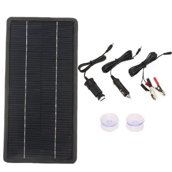 12V Solar Car Battery Charger Portable Monocrystalline Silicon Solar Power Panel Backup Trickle Charging For RV Motorcycle Boat Ma
