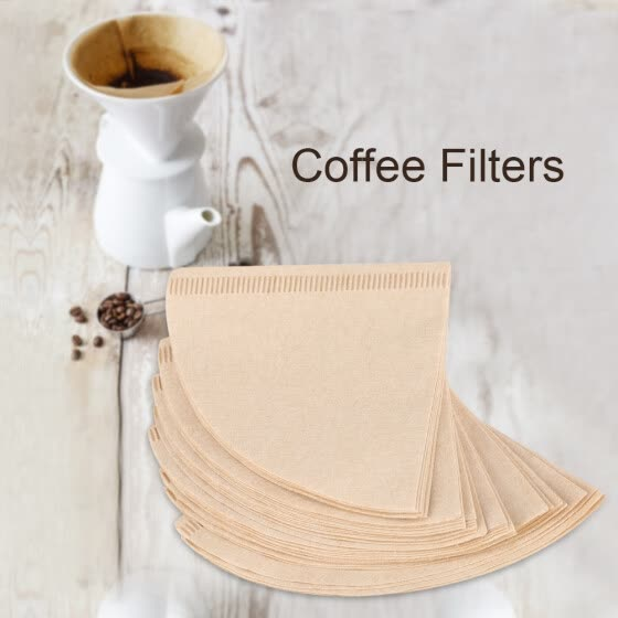 40Pcs Unbleached Natural Cone-Shape Drip Coffee Cup Filter Papers Coffee Cup Filter Paper