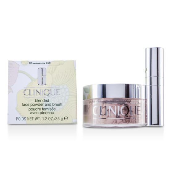 CLINIQUE - Blended Face Powder + Brush - No. 02 Transparency; Premium price due to scarcity  35g/1.2oz