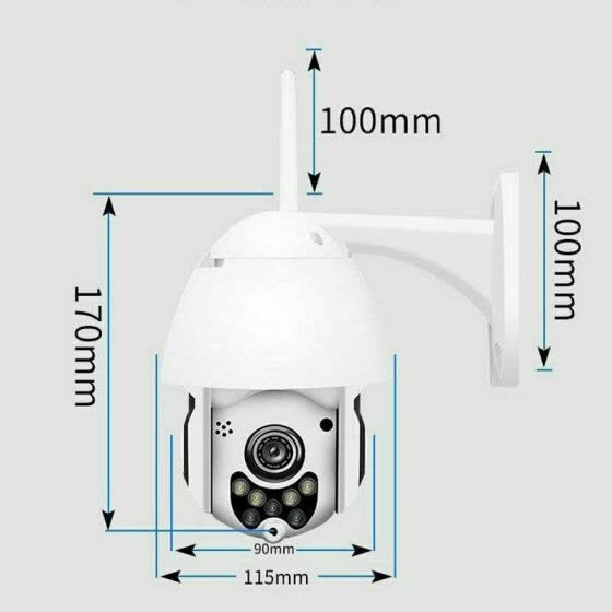 4-кратный зум 1080P FHD In / Outdoor 360 ° PTZ IP <b>Speed Dome</b> ...