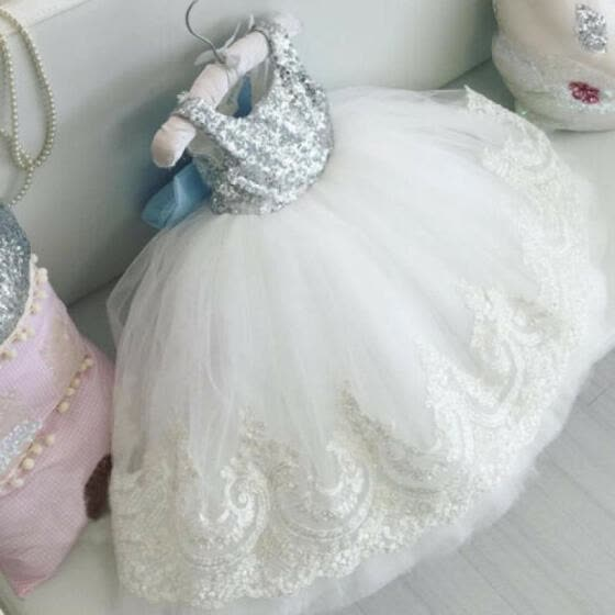 US Toddler Kids Baby Girls Lace Princess Dress Party Wedding Bridesmaid Pageant