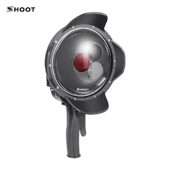 SHOOT Dome Port Lens Dive Case Housing Underwater 35m Grip Trigger with Switchable Magnifier Red Filter for Underwater Shooting Ph
