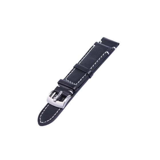 Genuine Leather Band Length Long 12.5cm Men Stainless Steel Buckle Watch Strap 18 20 22mm