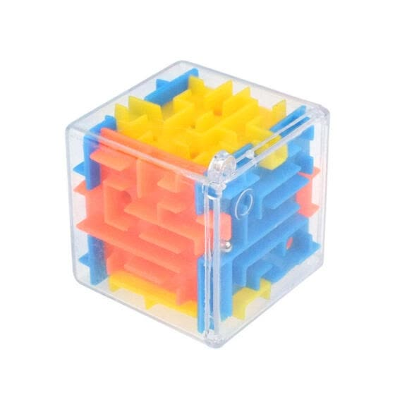 3D Magic Cube Puzzle Maze Toy Kids Educational Decompression Capsule Toys