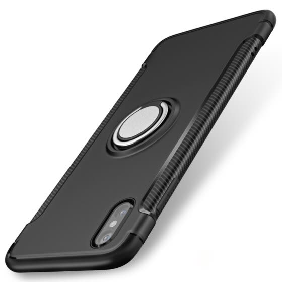 Phone Case Magnetic Car Holder For iPhone x 7/8 Plus Cases 360 Rotating Finger Ring Phone Cover