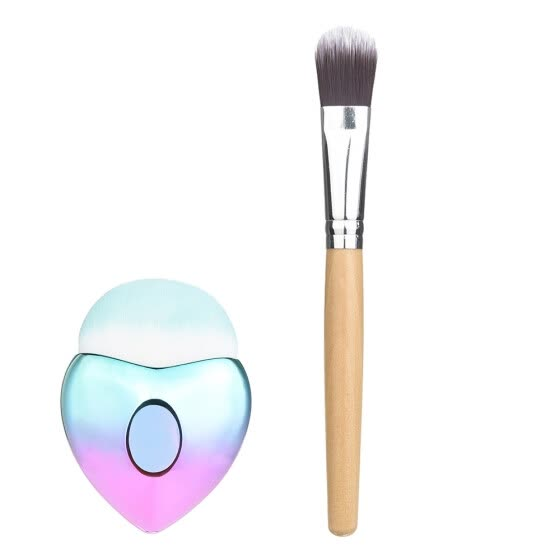 (Toponeto) Heart Shape Makeup Brush Bottom Brush Powder Blush Makeup Cosmetic Brush