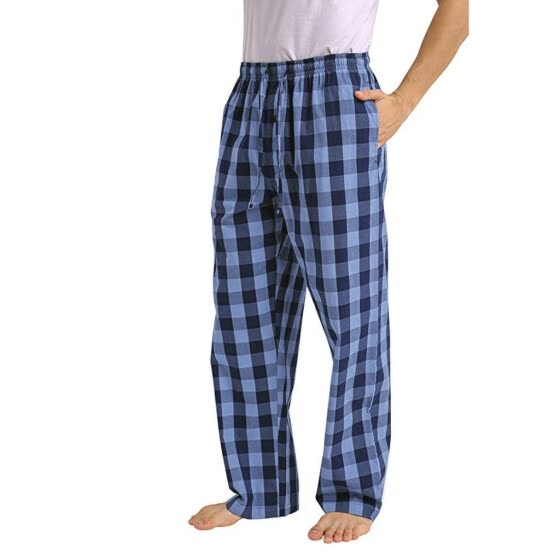 Gobestart Fashion Men's Casual Plaid Loose Sport Plaid Pajama Pants Trousers