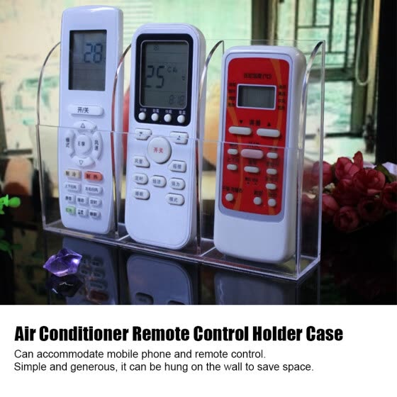 Acrylic Air Conditioner Remote Control Holder Case Storage Box Wall Mount, Remote Control Box, Remote Control Holder