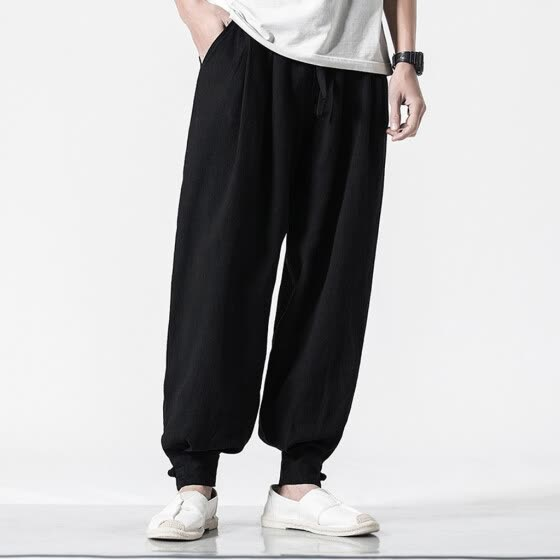 Tailored Men's Summer New Style Harren's Baggy Wide-Legged Pants Fashion Comfortable Pant