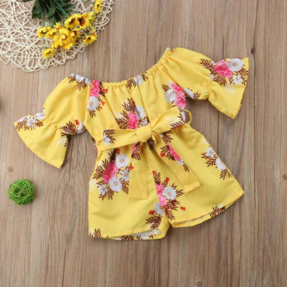 Newborn Infant Baby Girl bowknot Romper Bodysuit Jumpsuit Outfit Summer Clothes