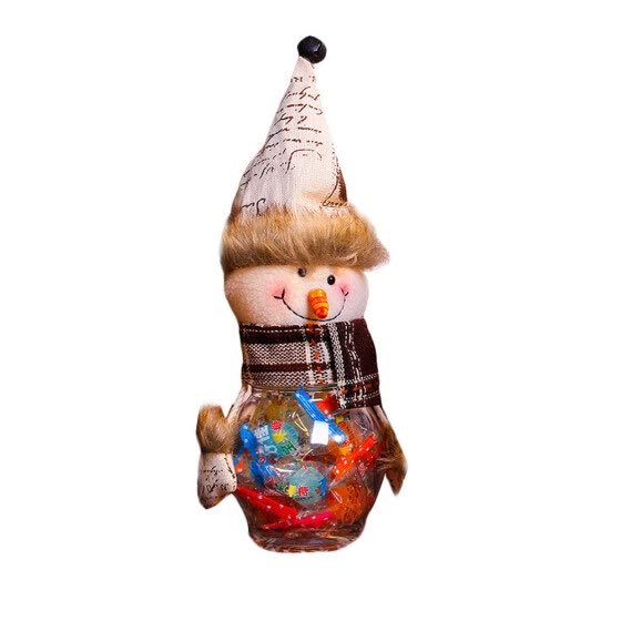 〖Follure〗Lovely Snowman Santa Elk Christmas Candy Filler Storage Bottle Xmas Decor Box