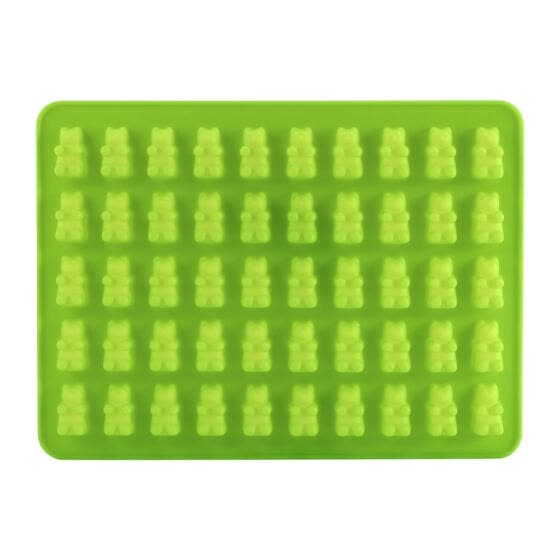 Greensen 50 Gummy Maker Cavity Bear Mold Novelty Silicone Chocolate Candy Ice Tray (Green),Silicone Ice Tray, Silicone Mold