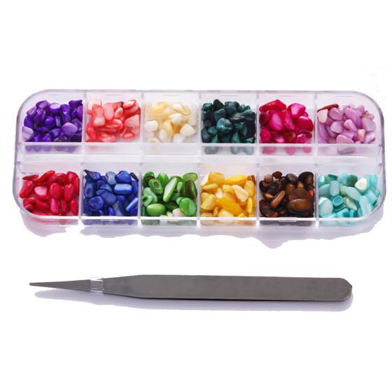 (Toponeto) Мода Nail Art Стразы Блеск Алмазы Советы Смешанные 3D Советы DIY Украшения