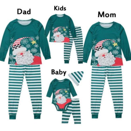US Stock Adult Kid Family Matching Christmas Pajamas Sleepwear Nightwear Pyjamas
