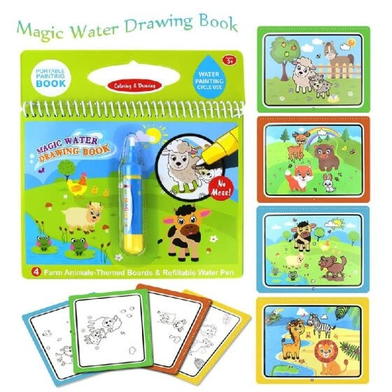 Shop Magic Water Drawing Book Coloring Water Painting Doodle Book