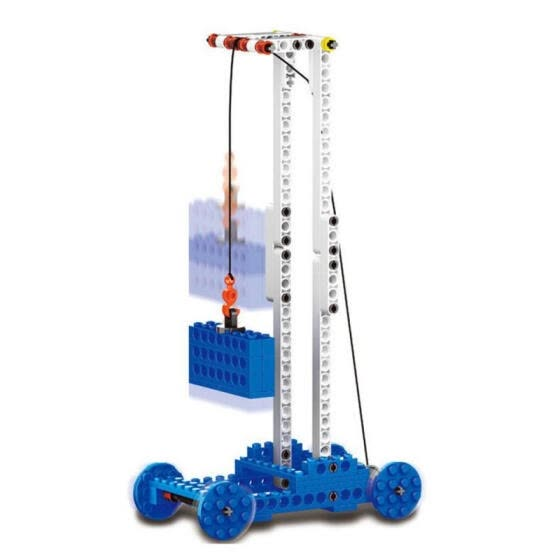Power Machinery 4 In 1 Model Building Blocks Wange Technic Educational Toys Electronic Engineering Crane Assembly Block