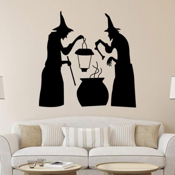 〖Follure〗Halloween Witch Wall Sticker Window Home Decoration Decal Decor Background
