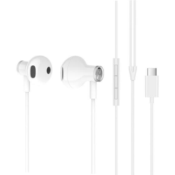 Xiaomi Hybrid DC Earphone Type-C Plug Half In-Ear USB Wired Control Microphone Mi Dual Driver Earphone