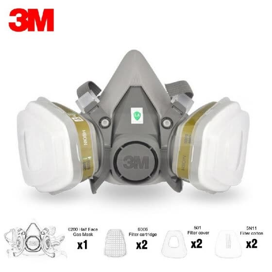Shop 6200 Face Mask Gas Acid Multi With Half 3m 2pcs Respirator