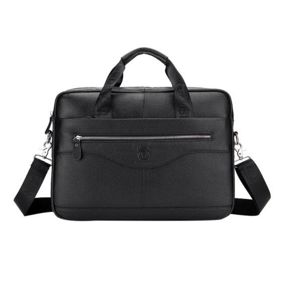 Men Leather Briefcase Laptop Bag Business Shoulder Bag Crossbody Handbags