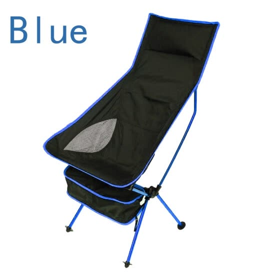〖Follure〗Outdoor Portable Camping Aluminum Stool Outdoor Back Folding Chair Fishing