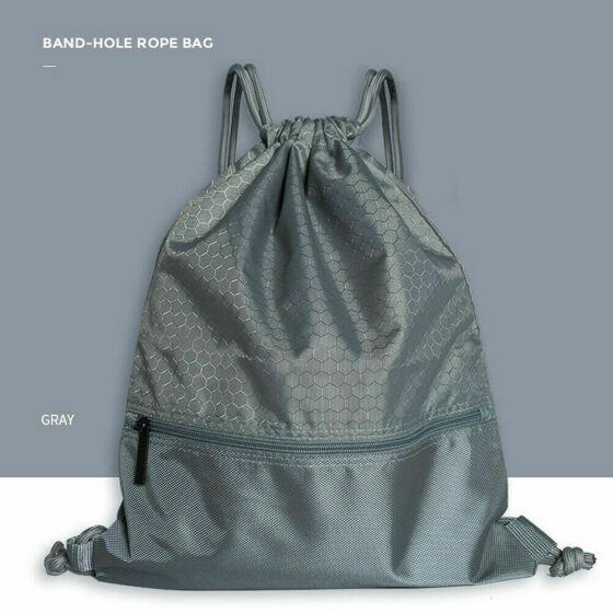 New String Drawstring Backpack Cinch Sack Gym Tote Bag School Sport Pack Bookbag