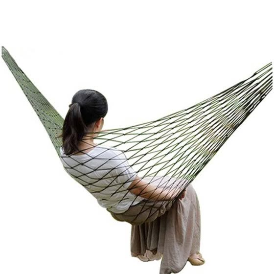 Green mesh hammock Outdoor Camping Double Hammock Swing Bed Hanging Bed Outdoor Camping Hiking
