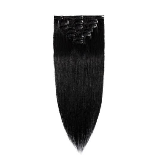 15-22 Inches Clip in Human Hair Extensions 100% Human Remy Hair 7Pcs 15clips Silky Straight Hair Extensions