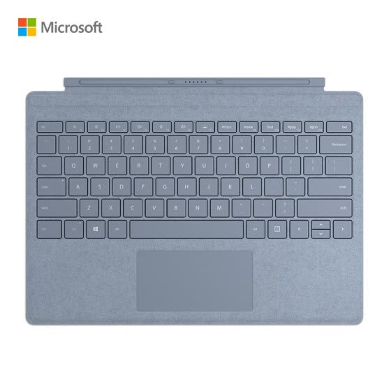 Microsoft Surface Pro Special Edition Professional Keyboard Cover Ice Crystal Blue | Alcantara Surface Pro 7 and Pro 6/5/4/3 Generation Universal