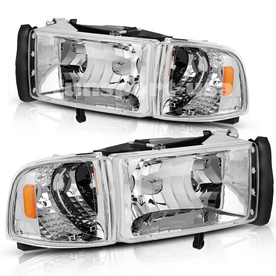 Fits 94-02 Dodge Ram Pickup Passenger Side Right Headlight Assembly