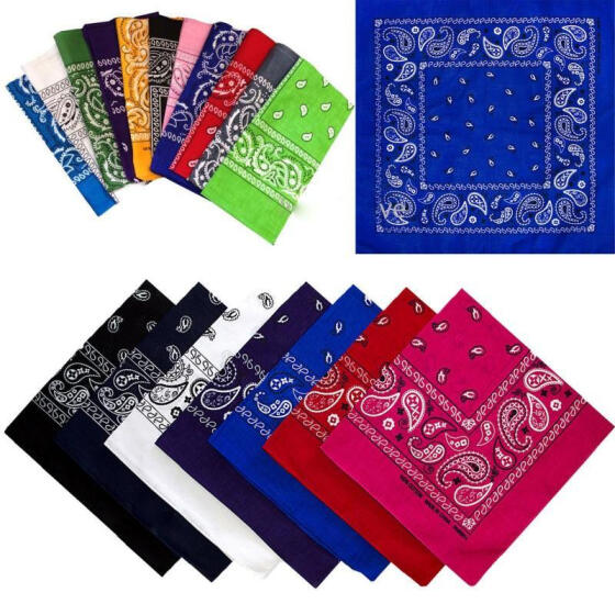 Buy 3 and Get 1 Free Paisley Bandana Bandanna Headwear