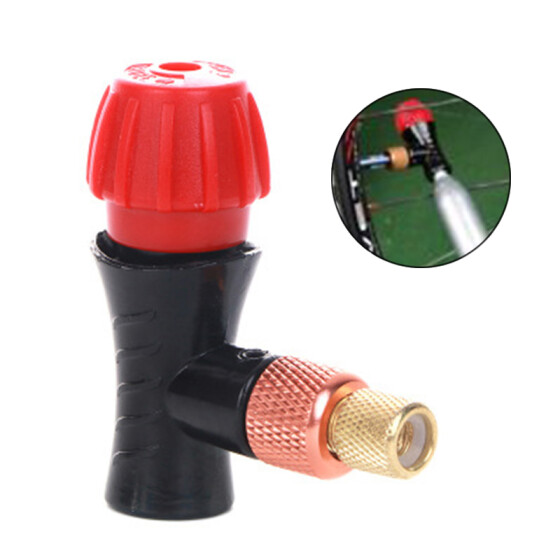 Bicycle CO2 Air Inflator Head for Bike Compatible for Presta and Schrader Valve