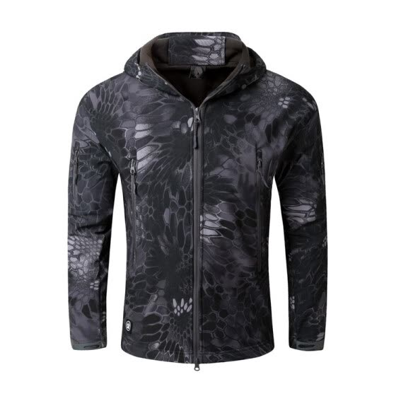 New Fashion  Mens Winter Clothing Camouflage Polyester Lightweight Rain Waterproof Windproof Softshell Jacket