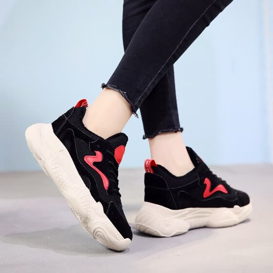 Breathable Air Mesh Women Casual Shoes 2019 winter Woman Sneakers Shoes Fashion Ladies Lace Up Flat Outdoor Shoes Plus velvet