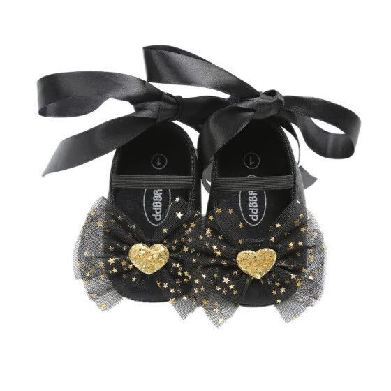 2018 New Baby Shoes Newborn Bow Tie Strap Toddler The First Walker Shoes Girl Princess Dance Shoes