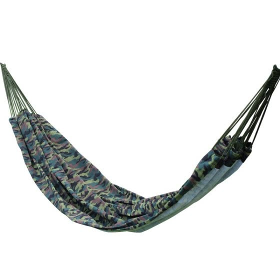 200*145cm 2 Person Hammock outdoor Leisure bed camouflage hanging bed double sleeping canvas swing hammock camping hunting