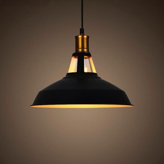 Retro Vintage Industrial Black Metal Hanging Ceiling Pendant Light Shade