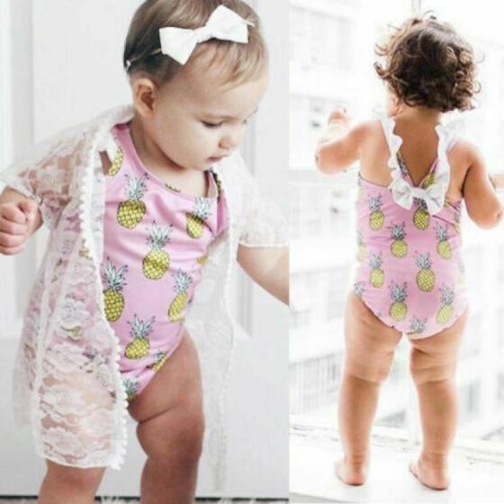 0-4T Toddler Baby Kids Girl/'s Swimsuit Bathing Tankini Bikini Swimwear Beachwear