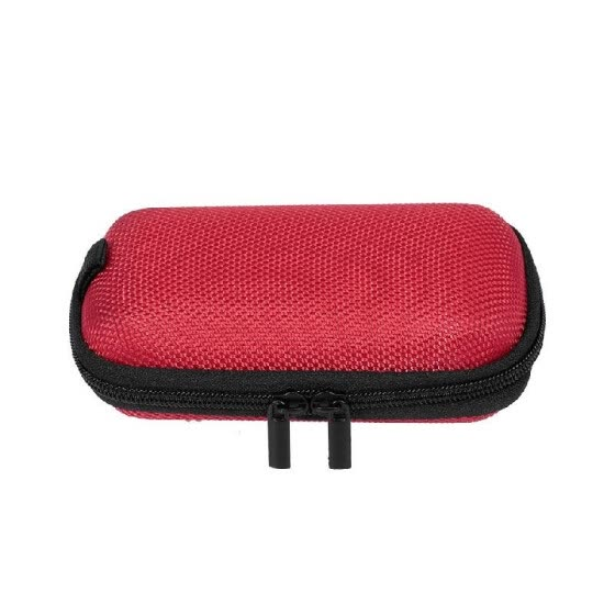 Carrying Case with Mesh Bag Waterproof Shockproof Storage Bag Hold USB Cable/Power Adpater/U Disk/Earphone (Red)