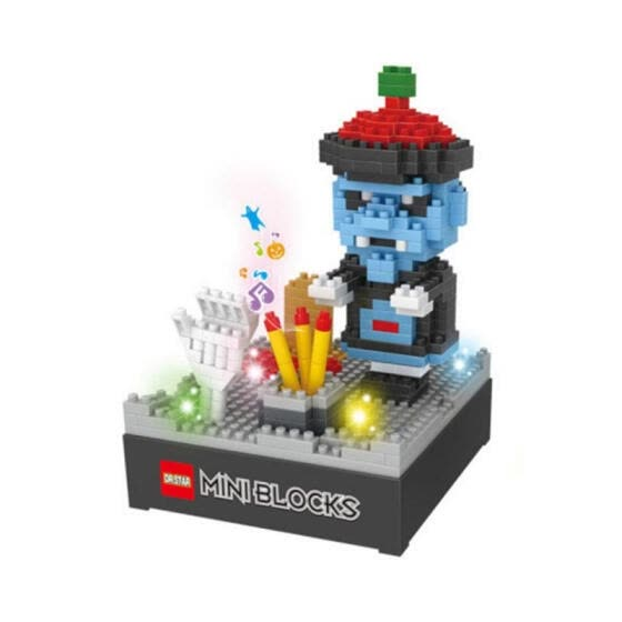 Diamond Building Blocks One Piece DR.STAR Halloween Zombie Styling Mini DIY Toys Bricks With Music Box For Children