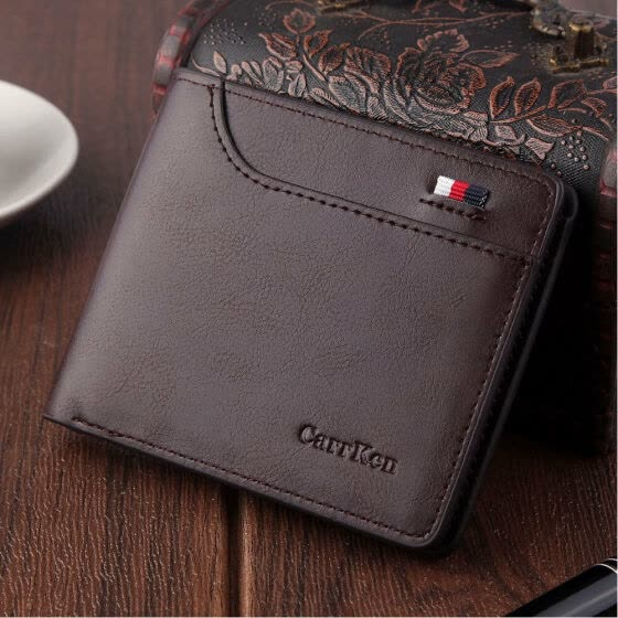 2019 New Style Fashion Hot Men's Black Business Leather Wallet Pocket Money Short Holder Clutch Patchwork Slim Purse