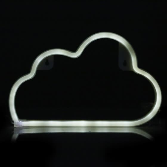 Cloud Neon Shape Lámpara de LED Night Creative Light pared Ok80wPnXNZ