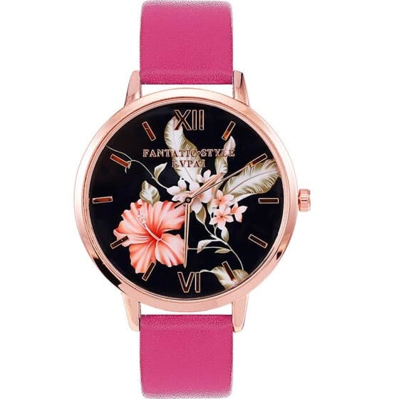 2019 Women Fashion Black Leather Strap Analog Quartz Watch Ladies Luxury Dress Watches For Women Jewelry Gift