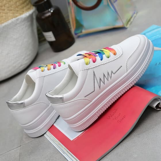 Students'Basic Small White Shoes Summer Thick-soled Sports Shoes