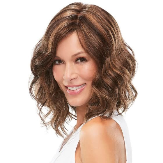 Shop Qianbaihui Short Wavy Wigs For Women Dark Brown Curly Cosplay Wig Shoulder Length Heat Resistant Synthetic Hair Wigs Wig Cap Online From Best Full Cap Wigs On Jd Com Global Site
