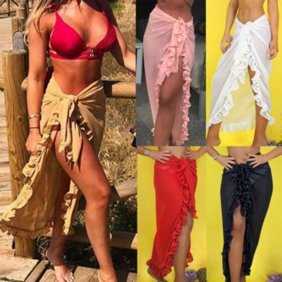 Womens Swimwear Cover Up Beach Sarong Wrap Scarf