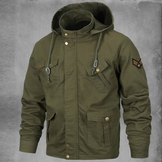 Gobestart Men's Autumn Winter Coats Casual Military Equipment Fashion Trend Jacket