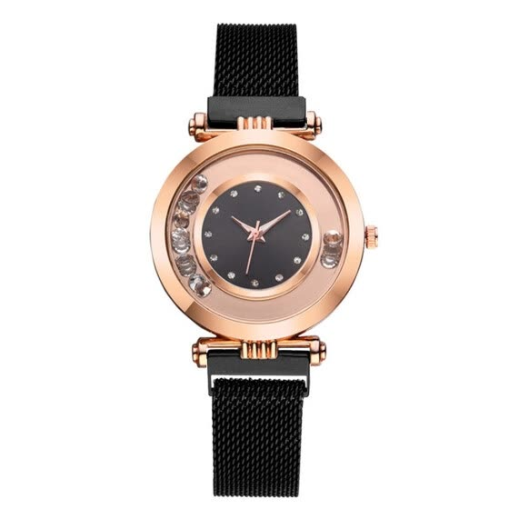 Luxury Women Watches Ball Dot Dial Ladies Rhinestone Quartz Wristwatch Mesh Belt Strap Clock Casual Dress Gift Reloj Mujer