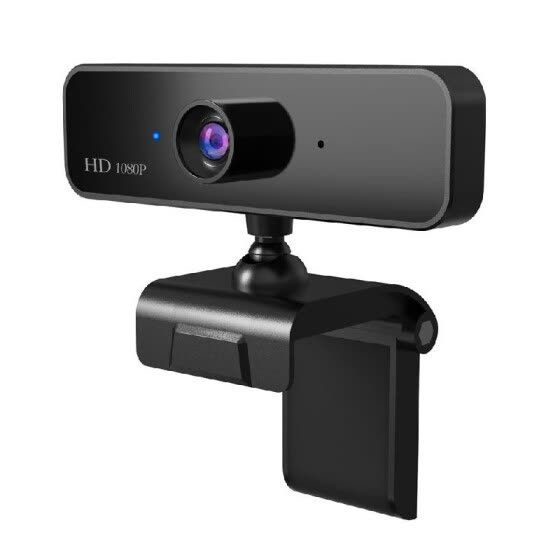 HXSJ S2 HD 1080P Webcam Built-in Microphone High-end Video Call Web Camera for PC Laptop (Black)